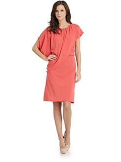 Josie Natori - Matte Jersey Side Drape Dress