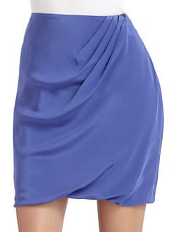 Josie Natori - Tavalu Draped Silk Skirt