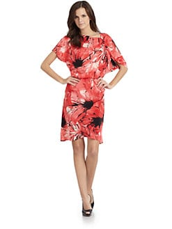 Josie Natori - Labasa Silk Charmeuse Blouson Dress
