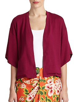 Josie Natori - Baya Silk/Cotton Kimono Sweater