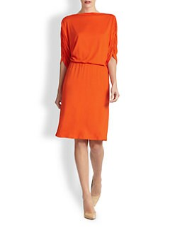 Josie Natori - Isla Ruched Jersey Dress