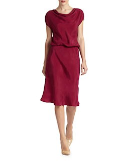 Josie Natori - Daray Draped Cupro Dress