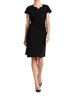 Josie Natori - Mikai Faux-Wrap Dress