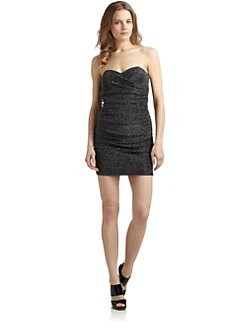 ABS - Strapless Metallic Dress