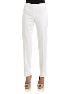 Lafayette 148 New York - Side Zip Pants/White