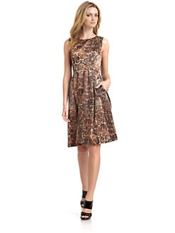Lafayette 148 New York - Satin Leopard Dress