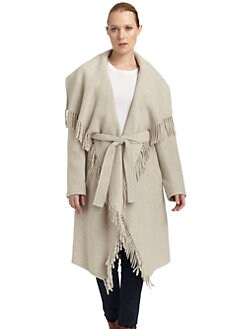 Lafayette 148 New York - Fringe Trim Shawl Cardigan