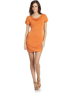 BCBGMAXAZRIA - Flavia Cowlneck Dress