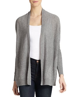 Eileen Fisher - Speckled Knit Long Open Cardigan