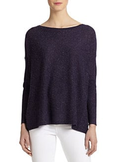 Eileen Fisher - Speckled Knit Boatneck Sweater