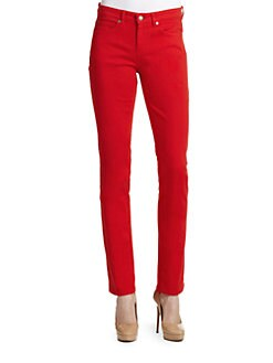 Eileen Fisher - Slim-Leg Colored Jeans