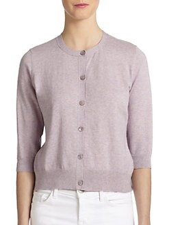 Eileen Fisher - Classic Cotton/Cashmere Cardigan