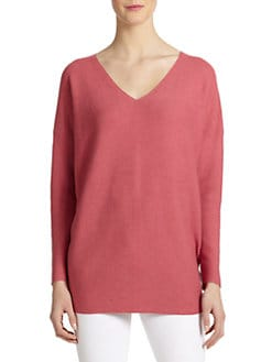 Eileen Fisher - Cotton V-Neck Tunic Sweater