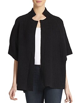 Eileen Fisher - Jacquard Knit Short-Sleeve Jacket