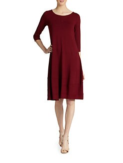 Eileen Fisher - Jersey A-Line Dress
