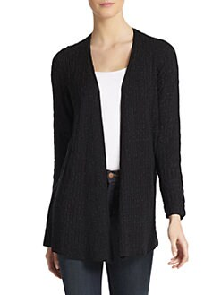 Eileen Fisher - Ribbed Open Long Cardigan