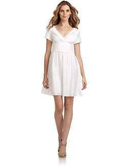 Andrew Marc - Mesh Detail Dress/White
