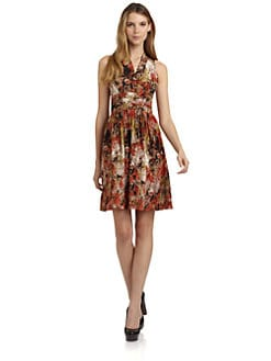Andrew Marc - Silk Floral Dress