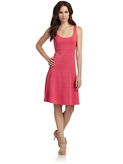 Josie Natori - Seamed Tank Dress/Coral