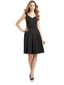 David Meister - Jacquard Sweetheart Sheath Dress