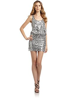 Laundry by Shelli Segal - Sequined Racerback Blouson Dress