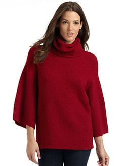 Eileen Fisher - Draped Sleeve Knit Cowl Sweater