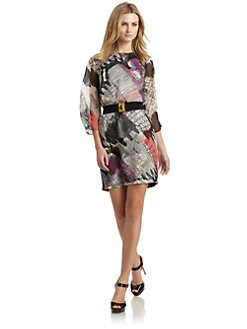 Ali Ro - Abstract Belted Dress