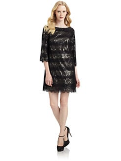 Ali Ro - Scallop Lace Embellished Dress