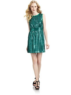 Ali Ro - Sequined Ruched Waist Dress