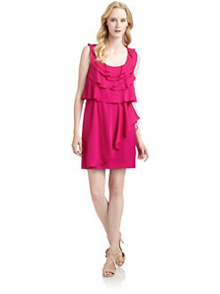 Ali Ro - Satin Ruffle Dress