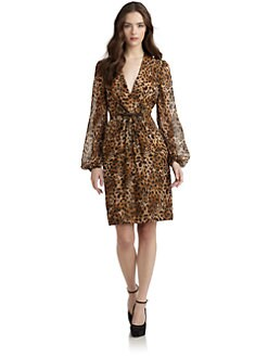Carmen Marc Valvo - Leopard Print Cocktail Dress