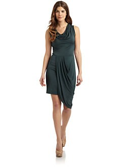 BCBGMAXAZRIA - Myra Asymmetrical Petal Dress