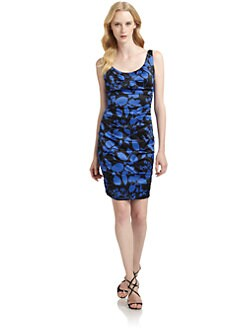 JAX - Satin Printed Cocktail Dress