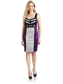 JAX - Striped Colorblock Dress
