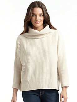 autumn cashmere - Cowlneck Elbow Patch Sweater