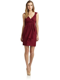 Jill by Jill Stuart - Ruched Silk Chiffon Dress