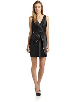 Jill by Jill Stuart - Twill Satin Bow-Front Dress