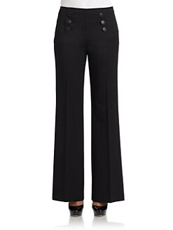 Lafayette 148 New York - Fulton High-Waist Button Trousers