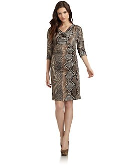 Suzi Chin - Reptile Print Cowl Dress