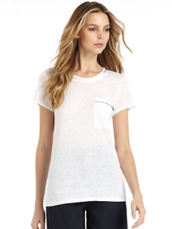 Elie Tahari - Stevie Knit Burnout Tee