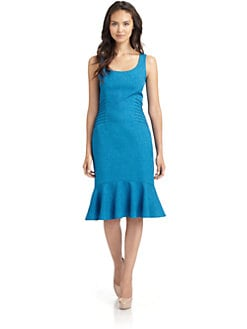 David Meister - Seamed Ruffle Hem Dress
