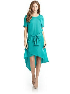 BCBGMAXAZRIA - Angelika Asymmetric Tie Waist Dress