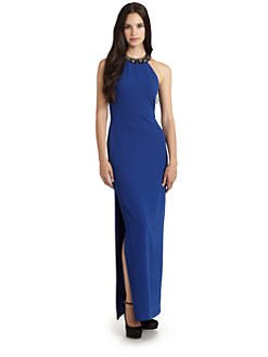 BCBGMAXAZRIA - Vivane Beaded Neck Gown