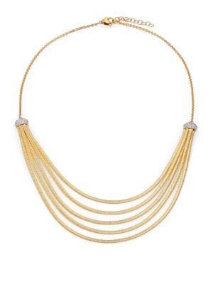 Cairo Diamond & 18K Yellow Gold Five-Row Bib Necklace
