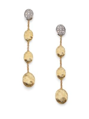 Siviglia Diamond & 18K Yellow Gold Drop Earrings
