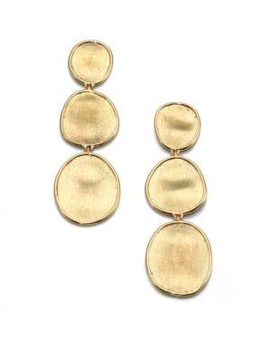 Lunaria 18K Yellow Gold Triple-Drop Earrings