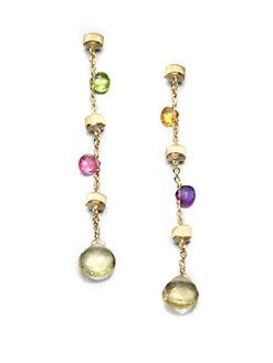 Marco Bicego - 18K Yellow Gold and Multi Gemstone Drop Earrings