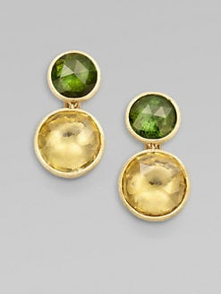 Marco Bicego - 18K Gold Semi-Precious Multi-Stone Drop Earrings/Peridot