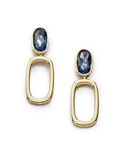 Marco Bicego - Blue Topaz & 18K Gold Drop Earrings