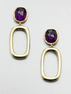 Marco Bicego - Amethyst & 18K Gold Drop Earrings